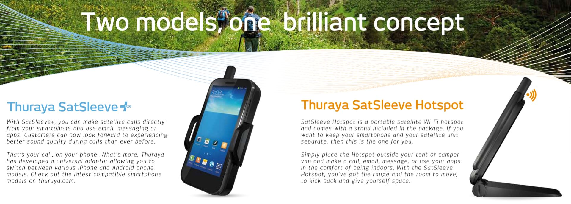 Thuraya SatSleeve+ and SatSleeve HotSpot
