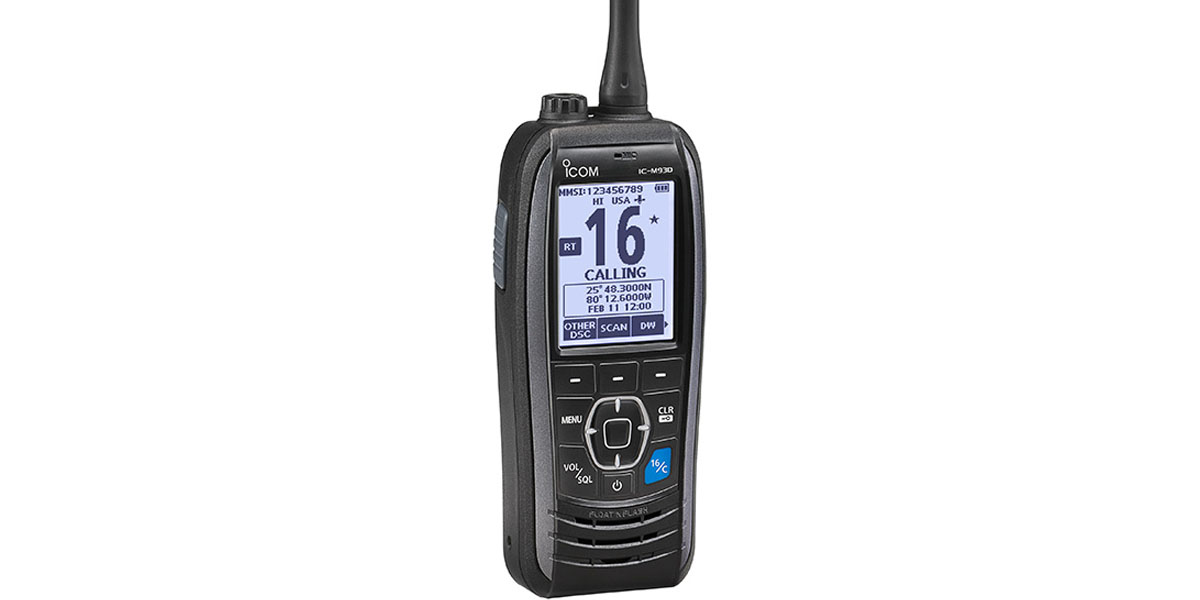 Icom M93D Handheld GPS VHF Radio